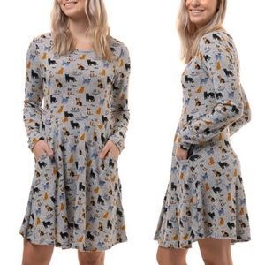 🐱Cat Prints Long Sleeves Tunic Sweater Dress